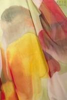 Палантин из натурального шелка «Радуга ароматов» (батик, ручная роспись)