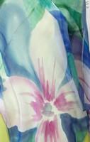 Палантин из натурального шелка «Бирюзовый рай» (батик, ручная роспись)