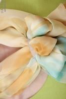 Палантин из натурального шелка «Лазурное сияние» (батик, ручная роспись)