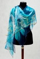 Палантин батик на заказ (шелк, ручная роспись)