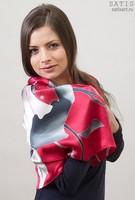 Платок из натурального шелка «Фламенко» (батик, ручная роспись)