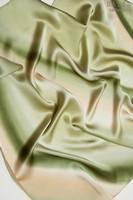 Платок из натурального шелка «Фисташковый» (батик, ручная роспись)