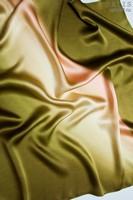 Платок из натурального шелка «Зеленый папоротник» (батик, ручная роспись)