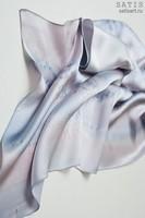 Эксклюзивный платок батик «Небесный жемчуг» (шелк, ручная работа)