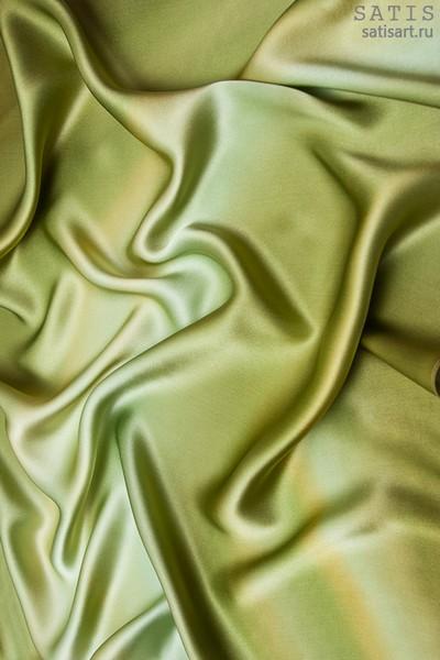 Платок из натурального шелка «Оливковый» (батик, ручная роспись)