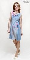 Платье из натурального шелка «Сакура» (батик, ручная роспись)