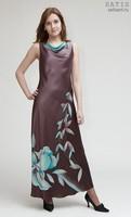 Платье из натурального шелка «Тоскана» (батик, ручная роспись)