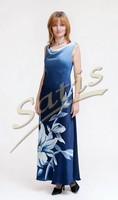 Платье из натурального шелка «Бали» (батик, ручная роспись)