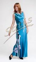 Платье из натурального шелка «Акапулько» (батик, ручная роспись)
