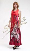 Платье из натурального шелка «Шри Ланка» (батик, ручная роспись)
