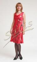 Платье из натурального шелка «Коломбина» (батик, ручная роспись)