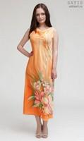Эксклюзивное платье батик «Анемоны» (шелк, ручная работа)