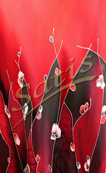 Платье из натурального шелка «Каталония» (батик, ручная роспись)