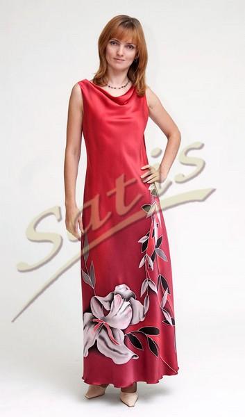Платье из натурального шелка «Севилья» (батик, ручная роспись)