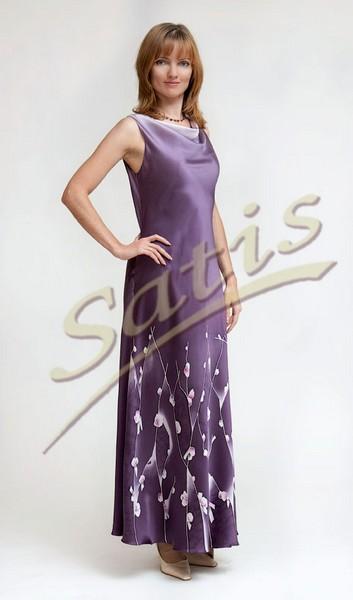 Платье из натурального шелка «Тулуза» (батик, ручная роспись)