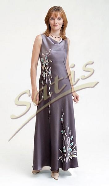 Платье из натурального шелка «Луара» (батик, ручная роспись)