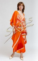 Туника из натурального шелка «Купанг» (батик, ручная роспись)