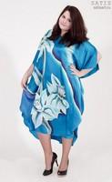 Эксклюзивная туника батик «Голубое сияние» (шелк, ручная работа)