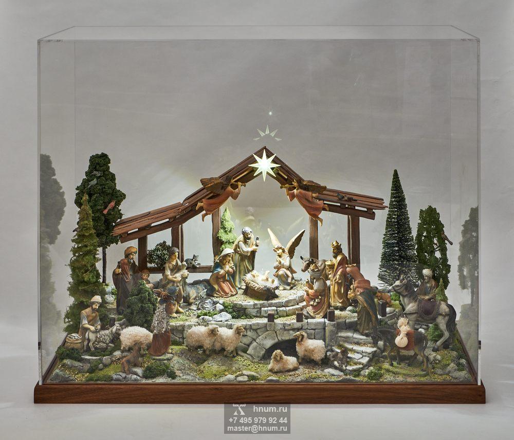 Вертеп Рождества - макет для оформления интерьера храма - дизайн-студия ХНУМ
