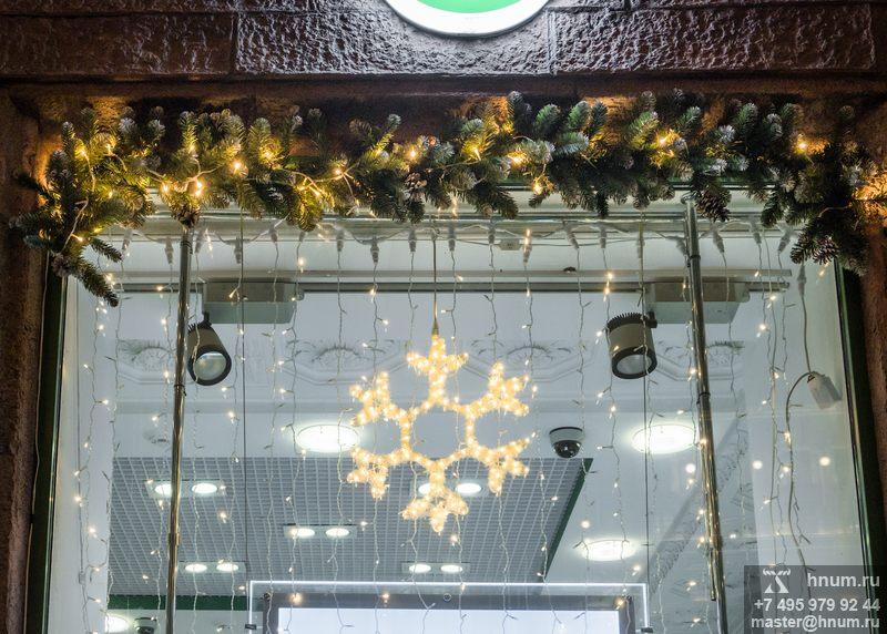 Оформление витрин к Новому Году сети аптек Эвалар в Москве - дизайн-студия ХНУМ