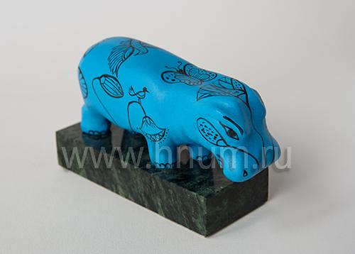 Гиппопотам статуэтка из Древнего Египта (декоративная гипсовая скульптура, коллекция: Скульптура Древнего Египта)