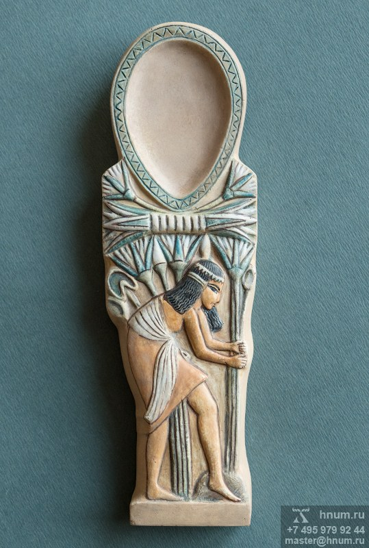 Декоративная скульптура ЛОЖЕЧКА С ЛОТОСАМИ - Коллекция: Скульптура Древнего Египта