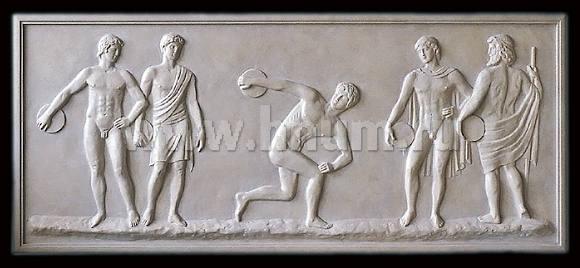 Скульптурные рельефы Олимпийские Игры созданные на заказ - скульптурная мастерская ХНУМ