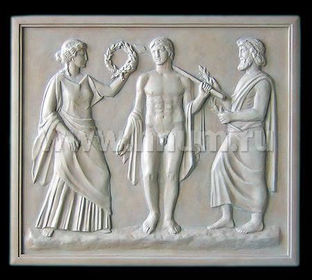 Скульптурные рельефы Олимпийские Игры созданные на заказ для оформления интерьера - художественная мастерская ХНУМ
