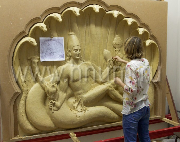 Большое декоративное лепное панно-барельеф - процесс создания - художественная мастерская БМ ХНУМ
