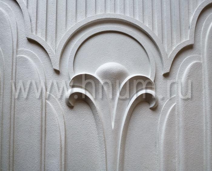 Декоративное рельефное панно фонтан в стиле ар-деко для фасада загородного дома - на заказ - художественная мастерская БМ ХНУМ