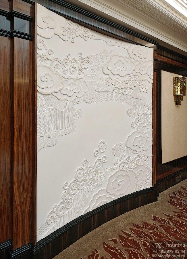 Панно в бильярдную в загородном доме в стиле Ар-Деко с китайскими мотивами - художественная мастерская ХНУМ