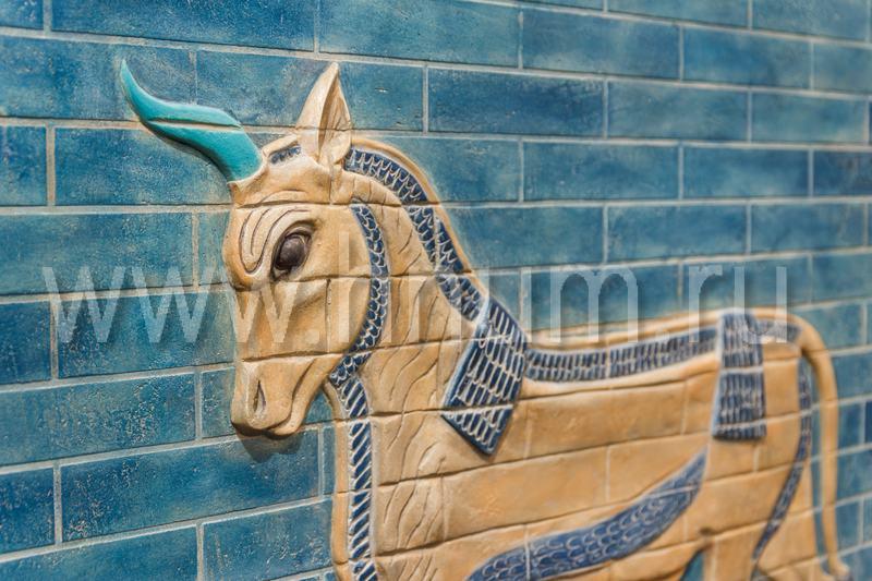 Рельефное панно с росписью ворота Иштар - на заказ - художественная мастерская БМ ХНУМ