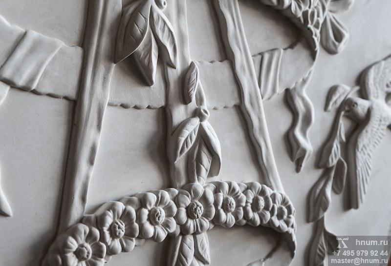 Комплект декоративных рельефных лепных панно в холл в квартире - на заказ - художественная мастерская ХНУМ