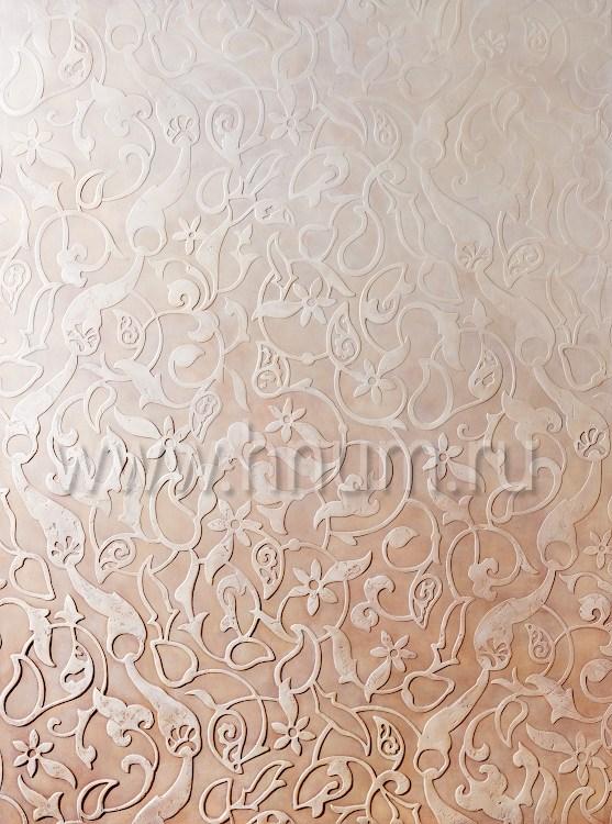 Панно с трафаретной фактурной декоративной штукатуркой - изготовление декоративных штукатурок на заказ - художественная мастерская БМ ХНУМ