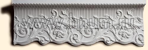 Лепные и гладкотянутые карнизы в каталоге лепнины