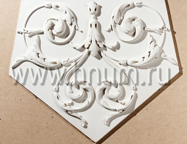 Лепные и гладкотянутые декоративные элементы в каталоге лепнины