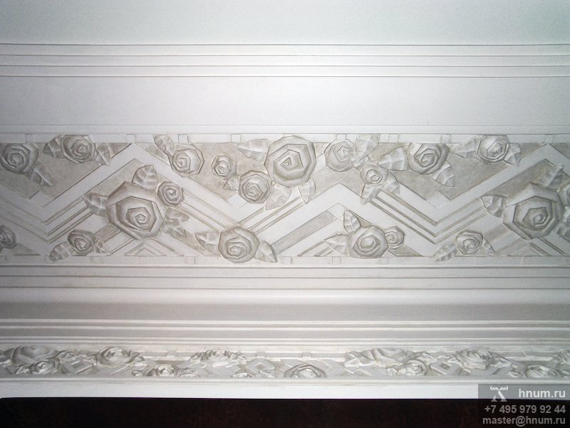 Эксклюзивная дизайнерская лепнина в стиле ар-деко в кабинете руководителя банка - на заказ - лепная мастерская БМ ХНУМ