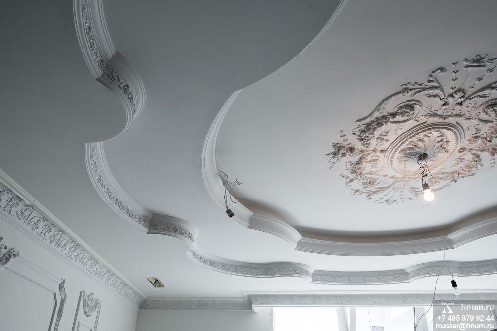 Процесс создания эксклюзивного лепного декора в классическом и восточном стилях в квартире в Москве - лепная мастерская ХНУМ