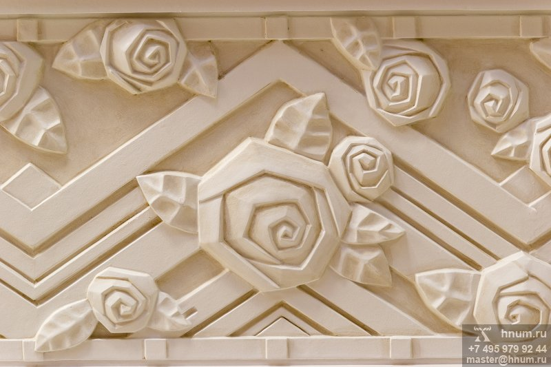 Дизайн и проектирование лепнины в стиле ар-деко - на заказ - лепная мастерская ХНУМ