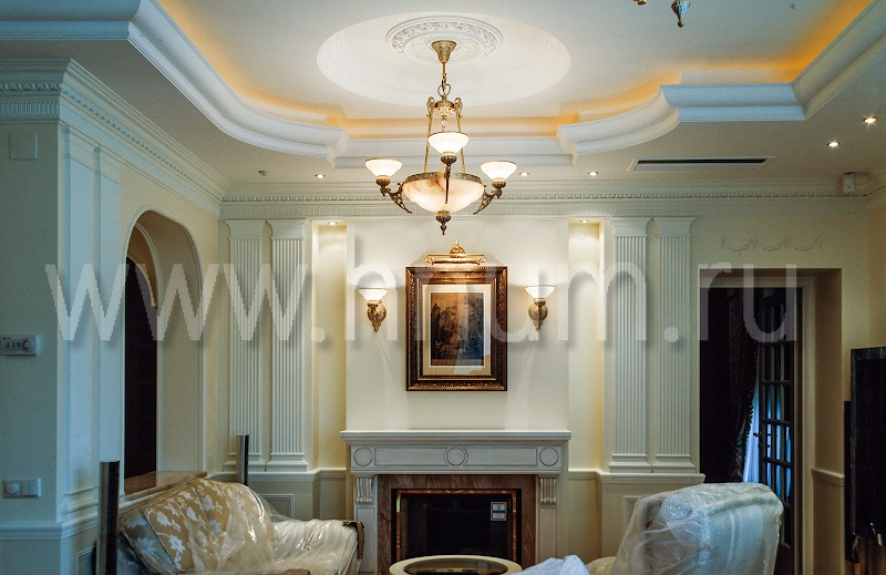 Лепнина в классическом стиле в интерьере элитной квартиры - на заказ - лепная мастерская БМ ХНУМ