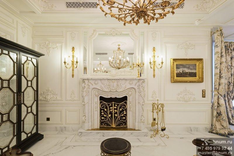 Лепной декор индивидуального эксклюзивного дизайна и изготовления для загородного дома в Подмосковье - на заказ - лепная мастерская БМ ХНУМ