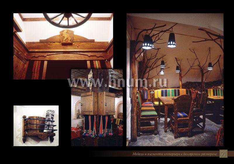 Мебель для ресторана из дерева - изготовление мебели для
