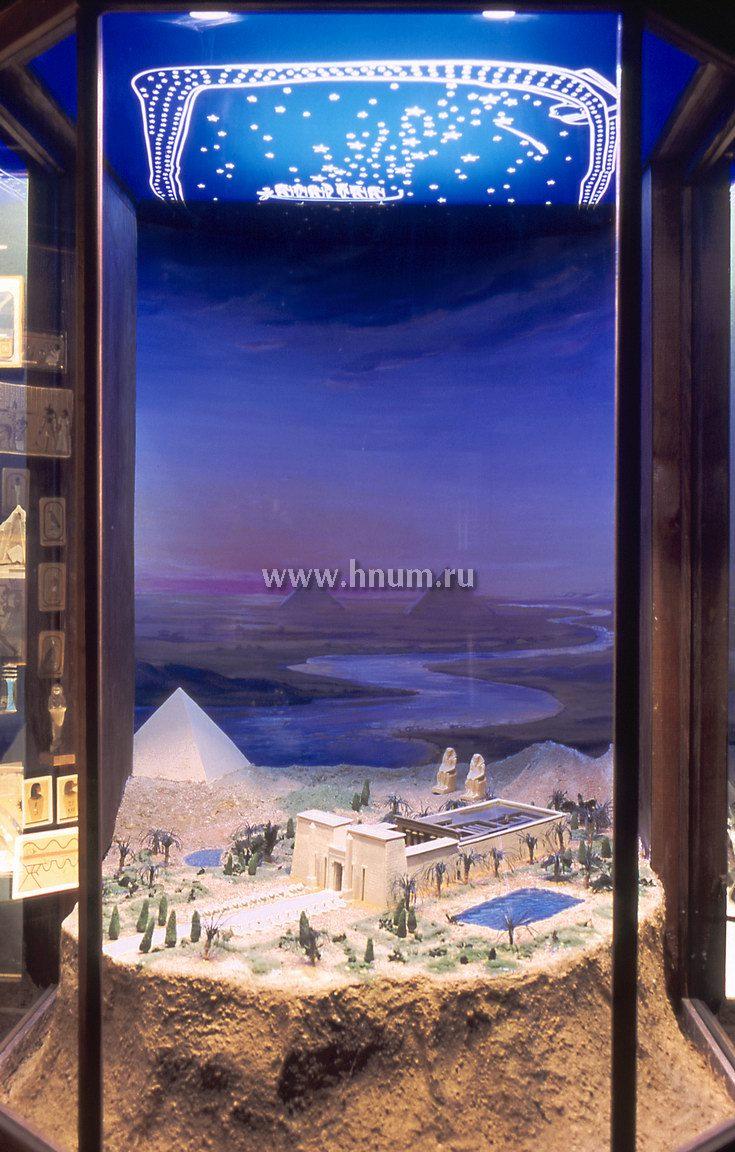 Макеты в египетской экспозиции Школьного музея
