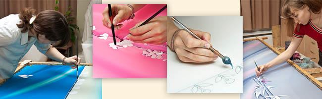 Курсы по батику - росписи по ткани