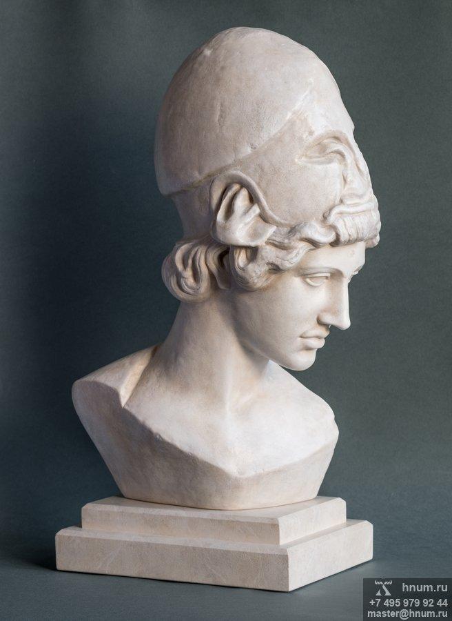 Интерьерная скульптура Афина Мирона бюст на подставке - купить в интернет магазине интерьерной скульптуры ХНУМ