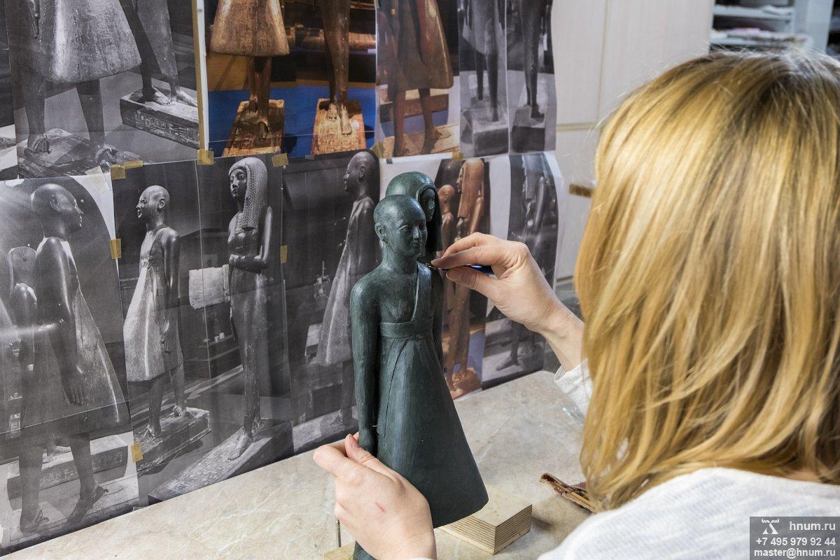 Скульптурные модельные работы по созданию реплик древнеегипеской скульптуры - на заказ - скульптурная мастерская ХНУМ