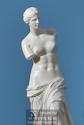 Скульптура Венера Милосская на декоративной колонне - на заказ -скульптурная мастерская