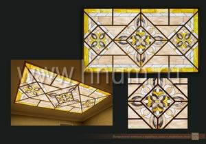 Витражные потолки тиффани изготовленные на заказ в витражной мастерской БМ ХНУМ -
