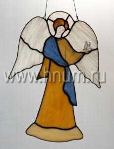 Витраж Ангел с голубем большой - витражи в подарок на Новый Год и Рождество - купить в интернет магазине БМ ХНУМ