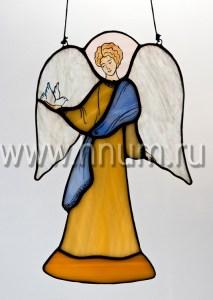 Витраж Ангел с голубем малый - витражи в подарок на Новый Год и Рождество - купить в интернет магазине БМ ХНУМ